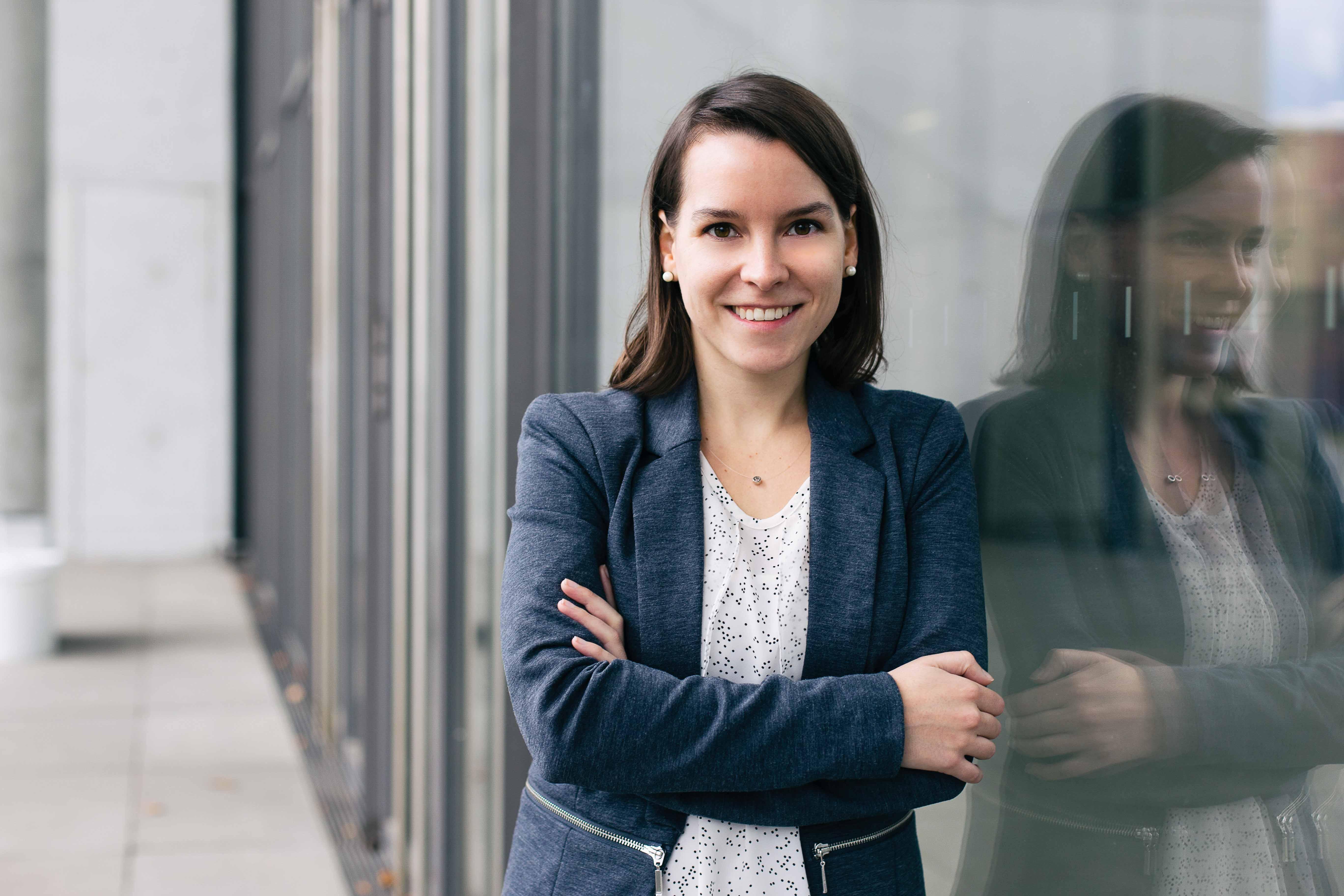 Bewerbungsfoto einer Studentin