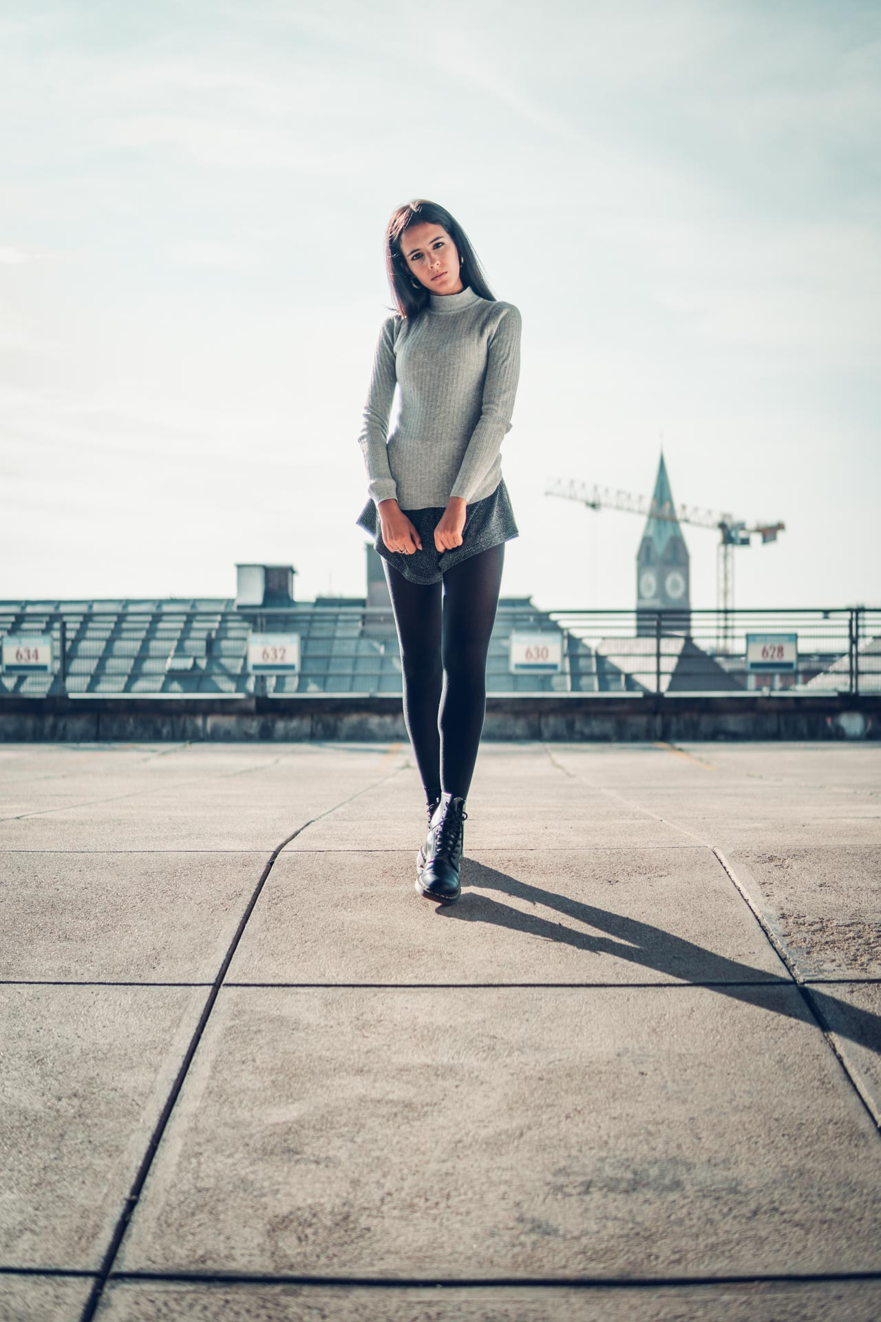 Lifestyle Shooting in München Editorial Style Model