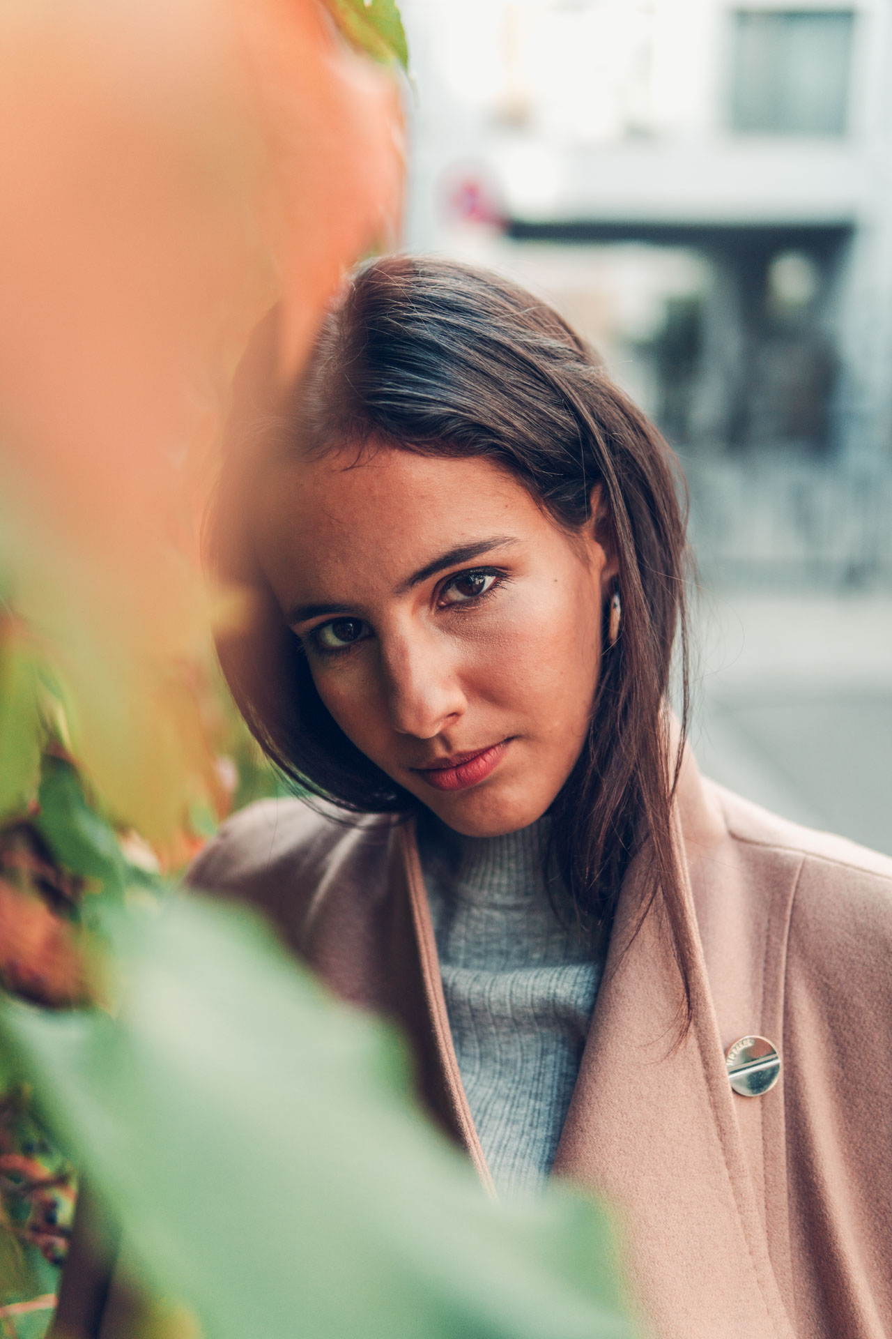 Beauty Portrait aus München mit Sony a6300 und 50mm f1.8 im Herbst